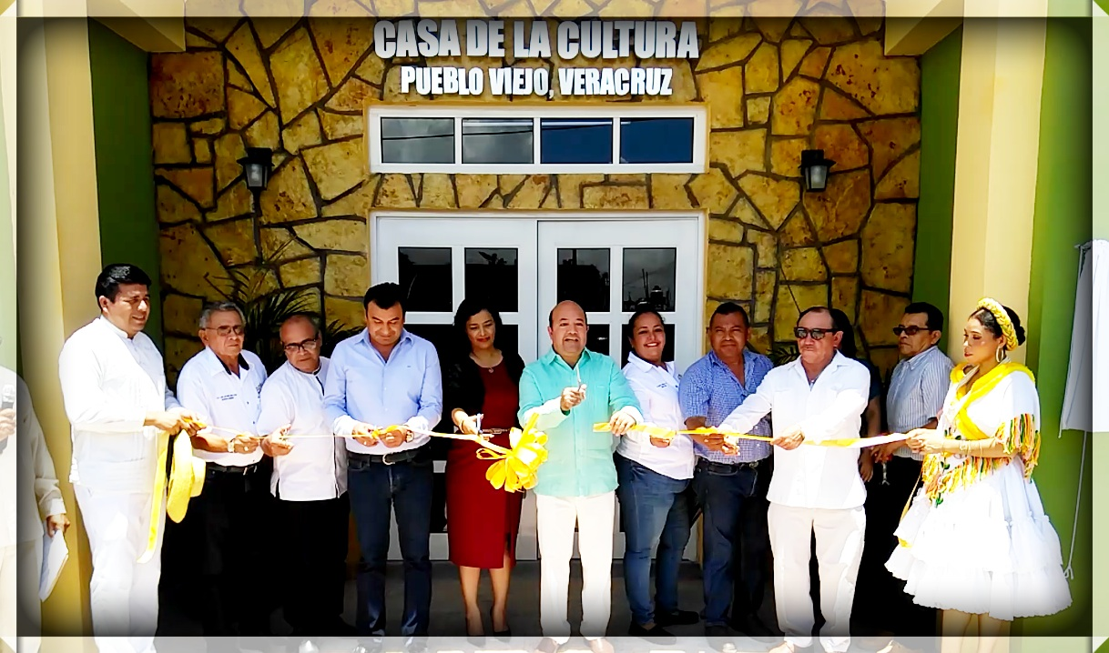Inaugura Manuel Cuán Delgado La Casa de la Cultura en Pueblo Viejo