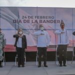 ADRIÁN OSEGUERA LLAMA A LA UNIDAD EN IZAMIENTO DE LA BANDERA NACIONAL